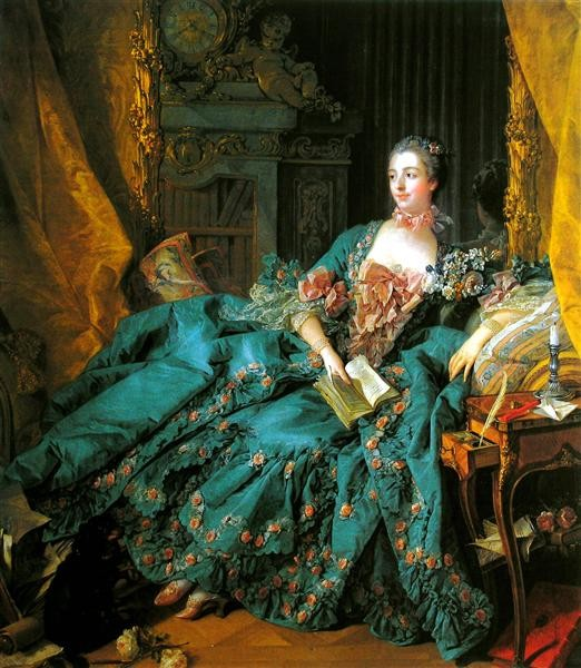 Portrait of Madame de Pompadour, Francois Boucher